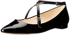 Nine West Women's Anastagia Synthetic Pointed Toe Flat >>> Details can be found by clicking on the image.