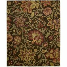 "Nourison JA41-CHO Jaipur Chocolate Oriental Rug Size: Runner 2'4"" x 8' by Nourison. $299.00. 2'4"" x 8'. Hand-Made. Chocolate. Hand Made construction. Made in India. 11290-JA41-CHO Rug Size: Runner 2'4"" x 8' Features: -Technique: Tufted.-Material: Wool.-Lavish pile and the silk-like sheen.-Nourison recommends only the use of Woolite or other compatible Carpet Cleaner for the cleaning of all rugs..-The cleaning process should involve applying the Woolite with a ..."