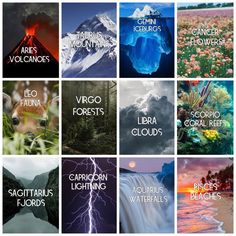 Burtm3737  Zodiac signs as beautiful parts of nature