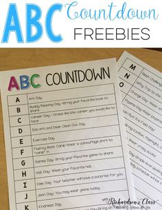 ABC Countdown is a FUN way to countdown the last 25-26 days of school! My students LOVED it so much! (We combine a few days!) Your kindergarten and first graders are sure to love it! Snag the freebies to have some wonderful end of year activities!