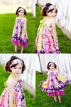 Serena's Stripwork Double Layer Dress Pattern from Create Kids Couture