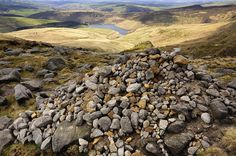 size: Photographic Print: Kinder Scout Cairn by Photos by R A Kearton : Peak District England, Derbyshire, National Parks, Mountains, Landscape, Wall Art, Water, Travel, Outdoor