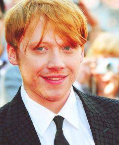 ♥ Rupert Grint <3 Harry Potter Pin, Harry Potter Movies, Rupert Grint, Hey Good Lookin, Gorgeous Eyes, My King, Best Actor, Celebrity Crush, Hogwarts