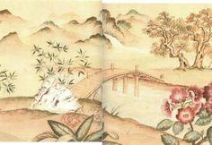 Asian Wall Mural Large [IB 5147F LG] - $4.00 : Miniature Dollhouses & Doll House Supplies   Earth & Tree Miniatures & Dollhouses