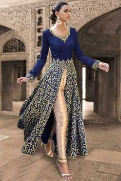 Blue Georgette Designer Salwar Kameez