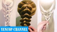 5 Peinados Faciles Y Rapidos Y Bonitos Con Trenzas (P1) | Peinado 2015 -...