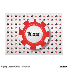 Playing Cards Suits Doormat