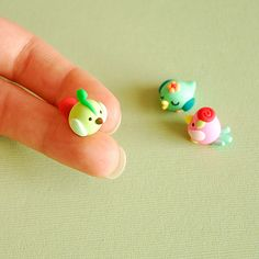 So sweet #pastel mini birds #polymer