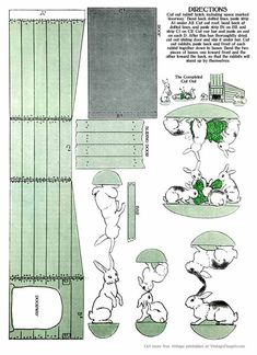 Vintage Easter Paper Toys and Pictures Printable Easter Paper Toy from 1914 – Craft Jr.
