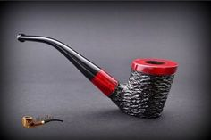HAND MADE WOODEN TOBACCO SMOKING PIPE no 48 Rustic Red + Filter