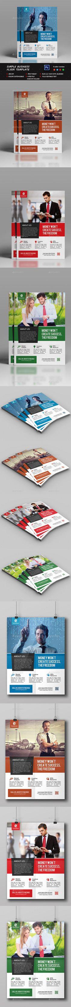 Simple Business Flyer Template PSD #design Download: http://graphicriver.net/item/simple-business-flyer/12870382?ref=ksioks