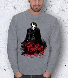 Valentine's Day Joker Batman Why So Serious Men Basic by pankarts, $49.90