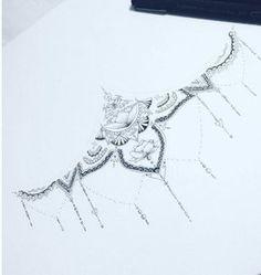 Mandala Sternum Tattoo Design by RosieVennTattoo on Etsy