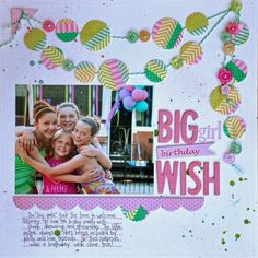 """""""Big Girl Birthday Wish"""", by Katherine McElvain for Bella Blvd (with tutorial)"""