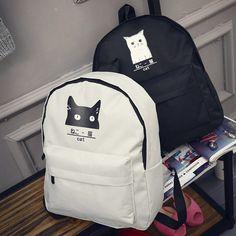 cc008d6318af Hot Sales Campus Female Girls Women Backpack Teenager Canvas Bag Animal  Printed Rucksack Laptop Outdoor Travel Bag (NVB006-33)