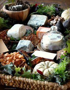 "cheese display for a fall party...it's all in the ""presentation""!"