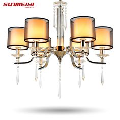 Modern Crystal chandelier lustres de cristal light lustres e pendentes lustres de sala teto luster lamparas colgantes #Affiliate