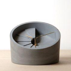 Concrete 4th Dimension Desk Clock