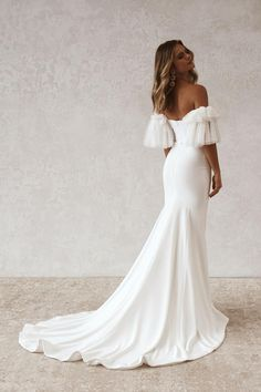 Garden Wedding Dresses, Dream Wedding Dresses, Bridal Dresses, Wedding Gowns, Wedding Day, Wedding Things, Girls Ripped Jeans, Dusty Rose Wedding, Yes To The Dress