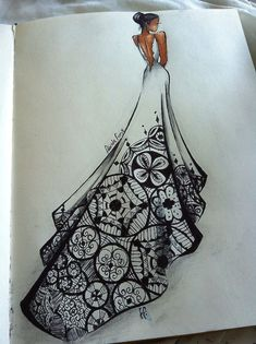 Love this #weddinggown sketch