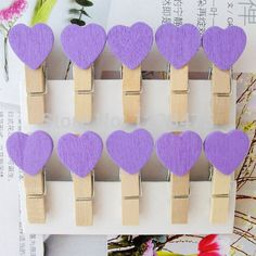 Devoted 8-50pcs Colored Mini Love Heart Wooden Clothespin Office Supplies Craft Clips Diy Clothes Paper Peg Clothespin Office & School Supplies Office Binding Supplies