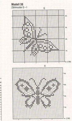 Xmas Cross Stitch, Butterfly Cross Stitch, Cross Stitch Bookmarks, Cross Stitch Borders, Cross Stitch Alphabet, Cross Stitching, Cross Stitch Embroidery, Filet Crochet Charts, Crochet Cross
