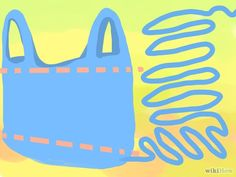 Knit plastic re-usable grocery bag