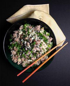 Coconut Ginger Cauliflower Pork (grain free, soy free, paleo) | GrokGrub.com
