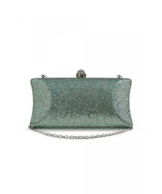 29c5ec3409da Women Sparkly Clutch Purse Hard Case Evening Bag Sequined Handbag With  Chain Strap - Apple Green - CO12NYZJRDO