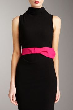 lbd..and a Valentino satin bow belt