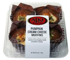 Our friends at Alki Bakery worked hard to revamp their recipe this year to get the perfect ratio of muffin to cream cheese.  Now topped with pumpkin seeds, with think it's even better than before!