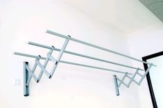 wall mounted clothes drying rack - Google Search Cloth Drying Hanger, Clothes Drying Racks, Aluminium Alloy, Wall Mount, Household, Laundry Room, Garden Ideas, Furniture, Google Search