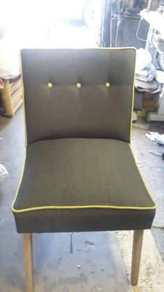 The same chair after re-upholstery - let your imagination run wild