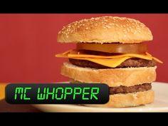 Como fazer o McWhopper no microondas - YouTube