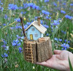 Little Wooden House Small House Natural Home Decor Driftwood