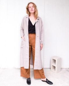 esby R E S O R T - sky baronne duster // 100% linen // made in USA