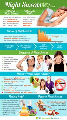 While night sweats can be uncomfortable and disruptive, they don't usually signal a more serious underlying condition.Night sweats during menopause are a common symptom among middle-aged women. Keep reading to learn more about this symptom. Menopause Diet, Menopause Relief, Pre Menopause Symptoms, Low Estrogen Symptoms, Hormone Imbalance Symptoms, Hormone Diet, Leiden, Night Sweats Causes, Natural Remedies For Menopause