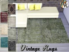 Sims 4 CC's - The Best: Vintage Rugs by Nikadema