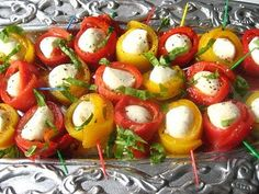mozarella and roasted pepper app
