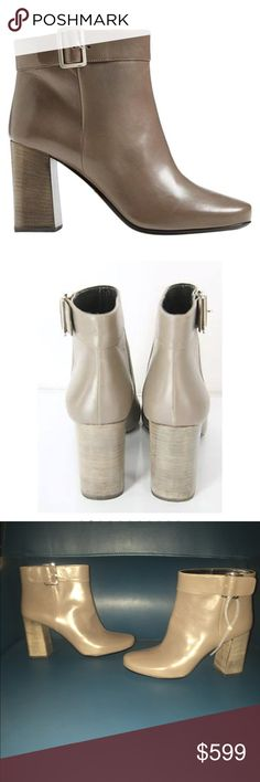 Prada Short Gray Leather Ankle Boots Side Buckle Beautiful Boots. Brand New. Reasonable Offers Welcome. Prada Shoes Ankle Boots & Booties