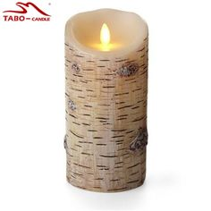 Halloween Home Classic Flameless Birch Bark Moving Wick Real Wax Candle Lights with Remote Control Luminara Flameless Candle * Want to know more, click on the image. #CandleInspiration