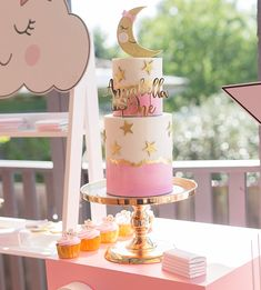 Twinkle Twinkle 💕Annabella's First Birthday 💫 Twinkle Star Party, Twinkle Twinkle, Torta Baby Shower, Baby Food Jar Crafts, Baby Birthday Cakes, Baby Girl Shower Themes, Star Baby Showers, Girl Cakes, Baby Party
