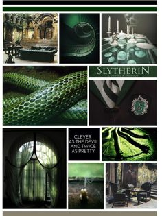 "ladyjaggerx3: ""You might belong in Slytherin… by k-strautz ❤ liked on Polyvore Simply Seductive / Slytherin common room clipped by IrmaPace / Slytherin by Emajer / like lollipops at the circus / fuck it, who cares? / FUCK YEAH, SLYTHERIN! / Emerald..."