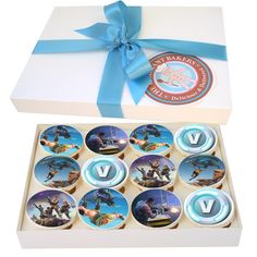 Cakes Delivered UK Wide 12 Delicious Cupcakes In The Theme Of Blockbuster Online Game Fortnite Perfect As