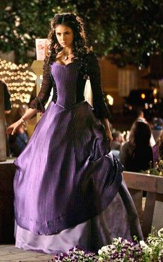 The Vampire Diaries- Nina Dobrev as Katherine Piece. Love this series and all the costumes from 1864 and in the dances!