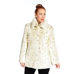 729-937 - Pamela McCoy Faux Fur Long Sleeve Wing Collar Fully Lined Coat. Make sure to use promo code 15FEST at checkout for an additional 15% off. Offer expires December 1st at 10:59pm ET!