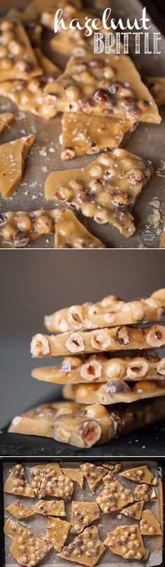 Homemade Hazelnut Brittle is a quick and easy treat that is sure to satisfy any . Homemade Hazelnut Brittle is a quick and easy treat that is sure to satisfy any sweet tooth craving, especially during the holidays. Nut Recipes, Candy Recipes, Cookie Recipes, Dessert Recipes, Brittle Recipes, Caramel Recipes, Fudge Recipes, Copycat Recipes, Homemade Candies