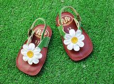 Nu-pieds bébés marguerite [Pèpè]  #shoes#daisy