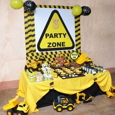 Fabulous MINING + CONSTRUCTION THEMED BIRTHDAY PARTY- party zone sweets table