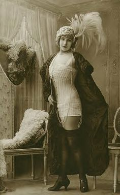 Risque Edwardian lady.